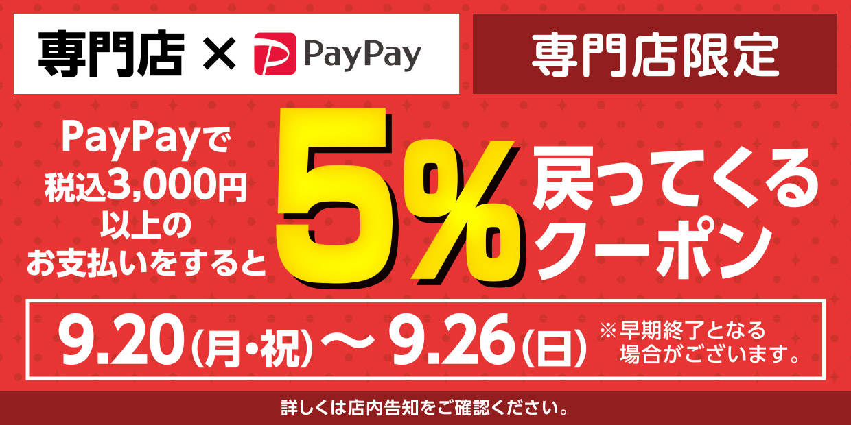 PayPayキャンペーンクーポン